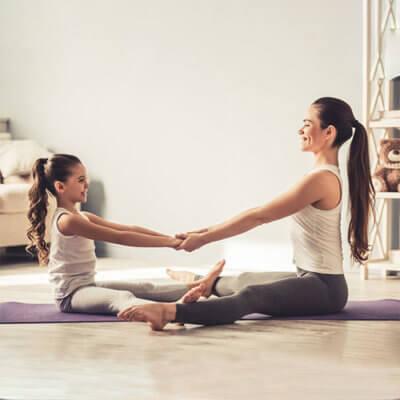 Yoga family parent enfant