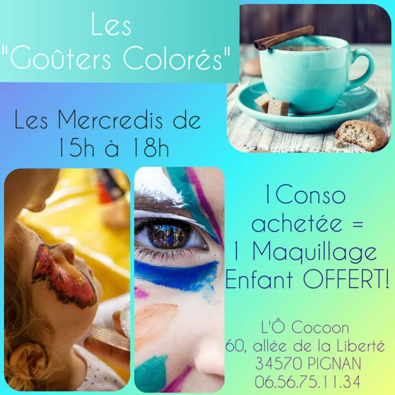 Le mercredi à L'Ô Cocoon goûter et maquillage en famille